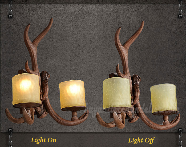 l deer lights wall antler com sconce pixball sconces candle