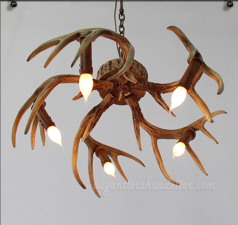 5 cast deer antler chandelier inverted hanging ceiling lights buy 5 cast deer antler chandelier inverted hanging ceiling candelabra lights rustic lighting fixtures mozeypictures Images