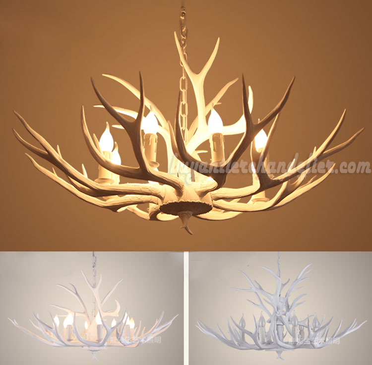8 whitetail deer antler chandelier pure white ceiling lights 8 whitetail deer antler chandelier pure white eight candelabra ceiling lights hanging lighting mozeypictures Gallery