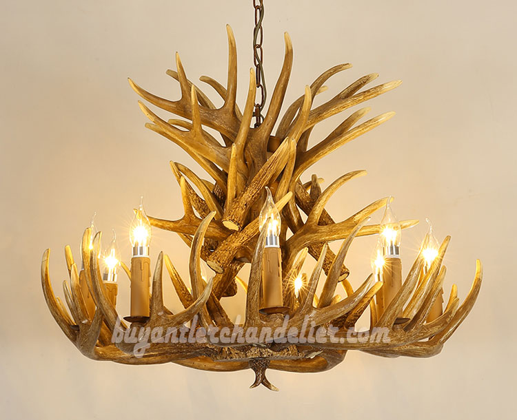 Antique 18 Antler Chandelier Cast Cascade 9 Candle Style Ceiling Lights Hanging Lighting Rustic Fixtures