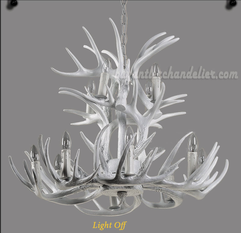 12 cast deer antler chandelier pure white ceiling lights best 12 cast deer antler chandelier pure white ceiling lights 8 4 candle style mozeypictures Images