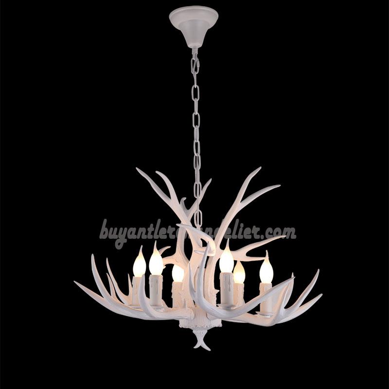 Pure white 6 antler chandelier candelabra rustic pendant lighting best pure white antler chandelier 6 antlers candelabra ceiling lights rustic pendant lighting aloadofball Gallery