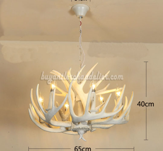 Buy 6 antler pure white deer chandelier six ceiling lights buy 6 antler pure white deer chandelier six cast cascade candle style ceiling lights aloadofball Gallery