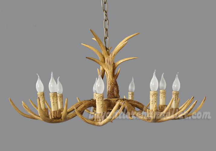 Cheap 8 cast deer antler chandelier candelabra rustic for Inexpensive rustic chandeliers