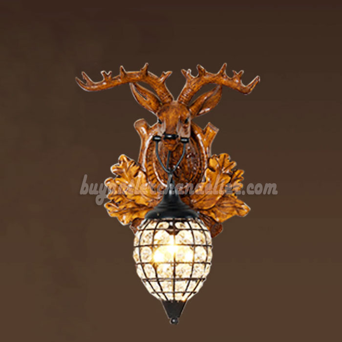 style lamps lighting cast sconces rustic bedside corridor antler candle fixtures shop porch sconce lights wall