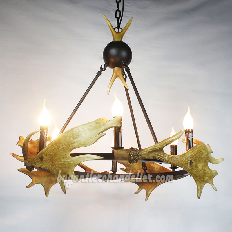 Moose 4 cast antler chandelier candelabra pendant lighting moose 4 cast antler chandelier six candelabra ceiling lights pendant lighting rustic style fixtures aloadofball