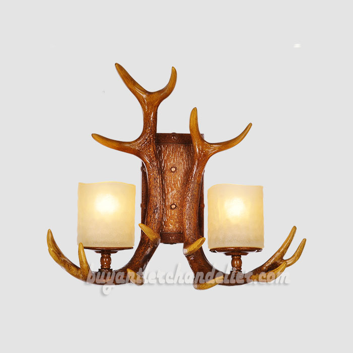 Whitetail 2 Antler Wall Sconces Corridor Lamps Rustic Lighting buyantlerchandelier.com