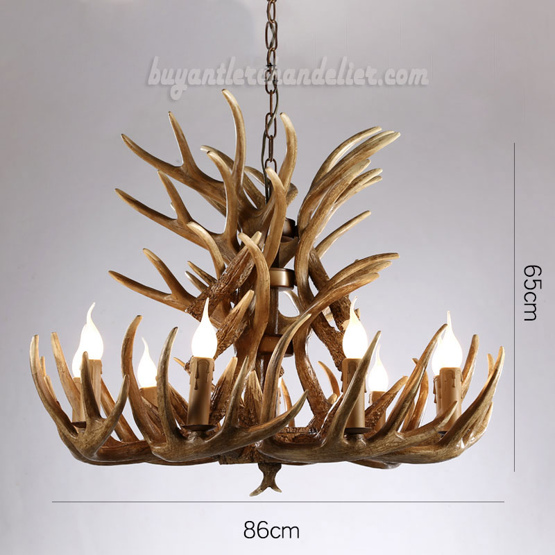 Phenomenal 18 Cast Elk Antler Chandelier Cascade 9 Candle Style Pendant Lights Rustic Ceiling Lighting Home Decor Fixtures Home Interior And Landscaping Ponolsignezvosmurscom