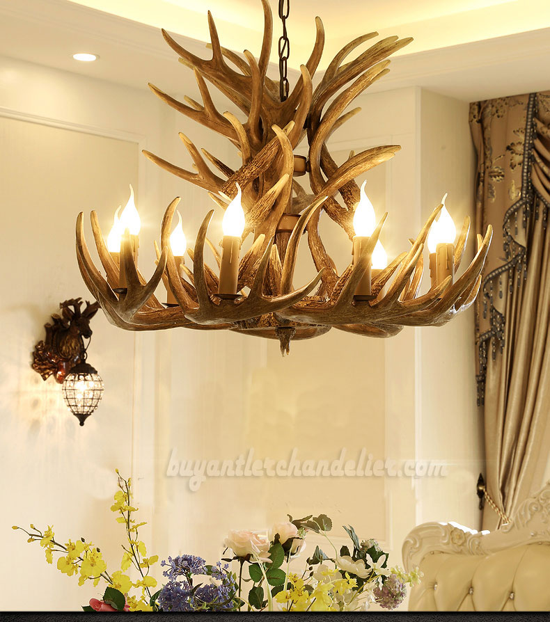 Sensational 18 Cast Elk Antler Chandelier Cascade 9 Candle Style Pendant Lights Rustic Ceiling Lighting Home Decor Fixtures Home Interior And Landscaping Ponolsignezvosmurscom