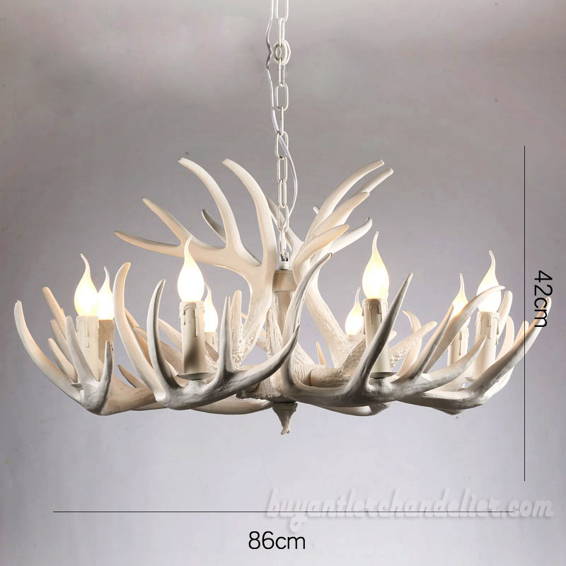 9 3 elk pure white antler chandelier living room lighting fixtures 9 3 elk pure white antler chandelier nine cascade pendant lights living room bedroom lighting aloadofball Choice Image