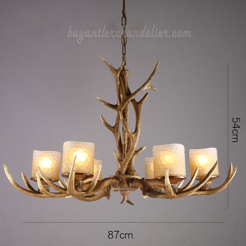Cheap elk 6 antler chandelier six cast candle style for Inexpensive rustic chandeliers