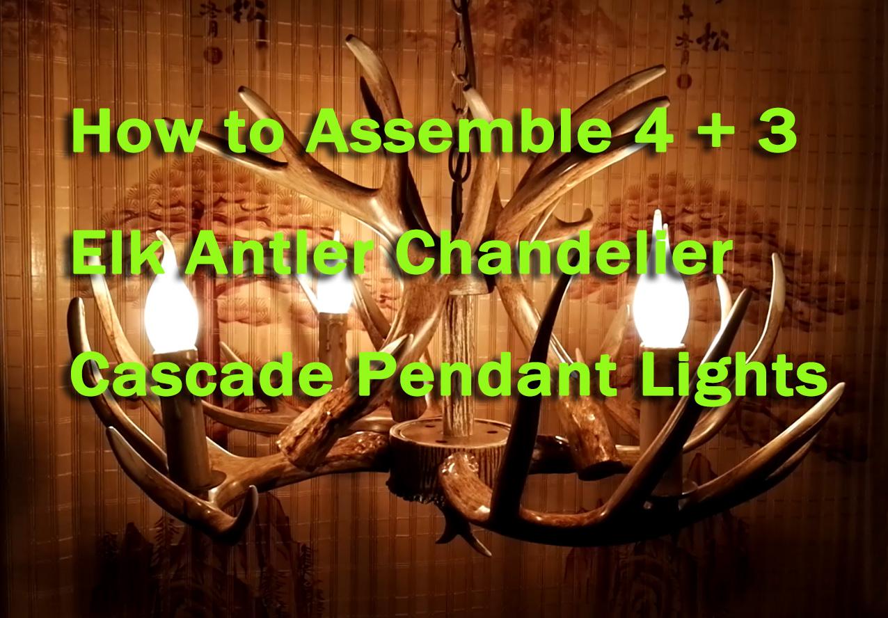 How to assemble 4 3 elk antler chandelier pendant lights how to assemble 4 3 elk antler chandelier pendant lights buyantlerchandelier arubaitofo Choice Image