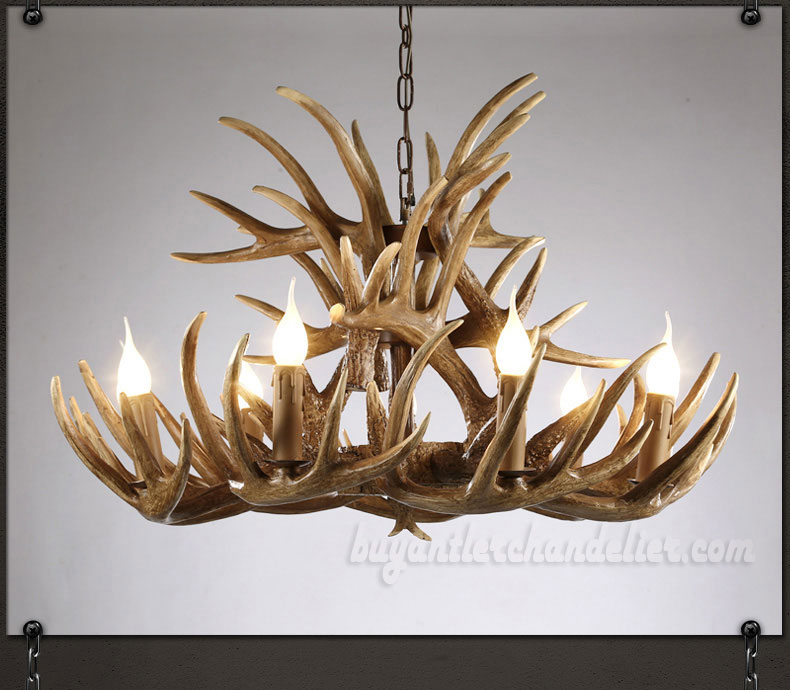 15 cast antler chandelier 9 6 ceiling lights rustic lighting vintage 15 cast antler chandelier 9 6 nine candle style ceiling lights cascade rustic aloadofball Images