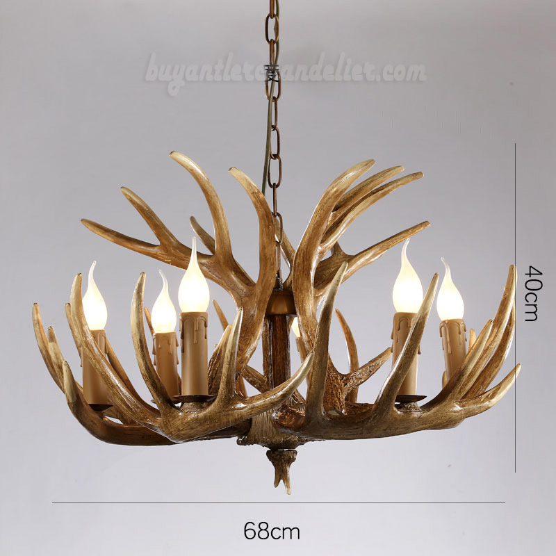 Vintage 6 Cast Deer Antler Chandelier Six Cascade Ceiling Lights Rustic  Style Pendant Lighting Fixtures