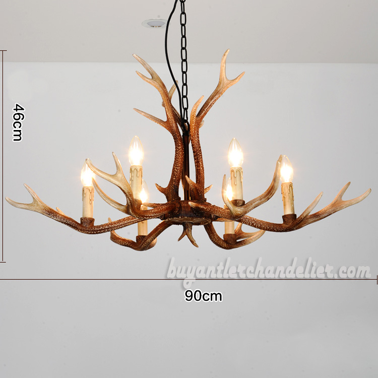 Fantastic 2018 New 6 Antler Deer Chandeliers Six Candelabra Ceiling Lights Rustic Style Lighting Home Decor Fixtures 35 Home Interior And Landscaping Ponolsignezvosmurscom