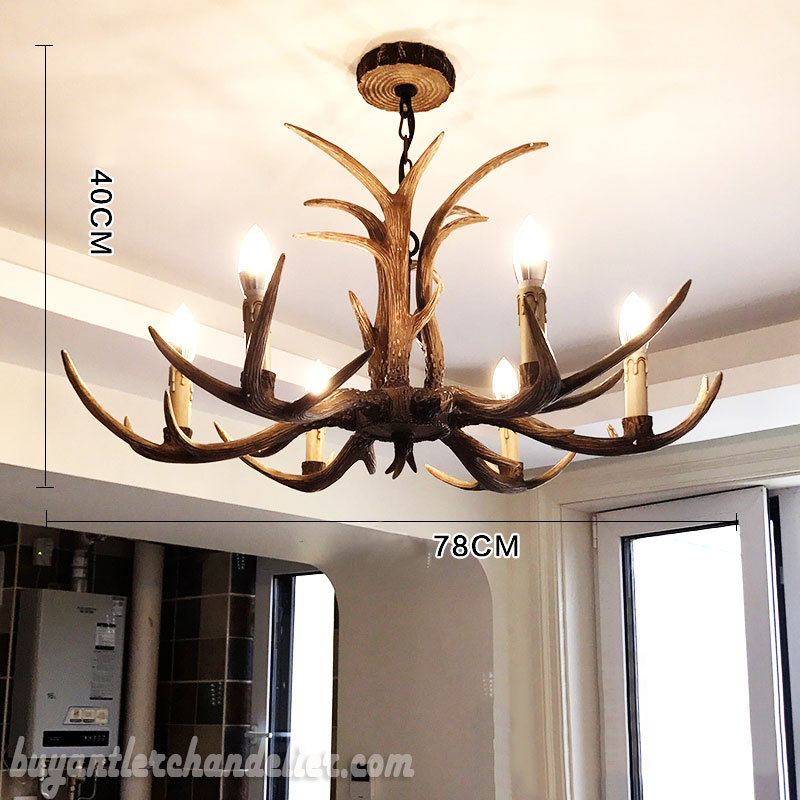 Cheap 6 cast antler chandelier candelabra pendant lights buy cheap 6 cast antler chandelier candelabra pendant lights rustic style lighting fixtures 30 inch aloadofball Images