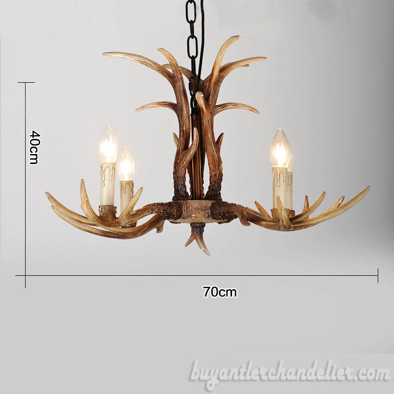 Cheap 4 Cast Deer Antler Chandelier Rustic Lighting