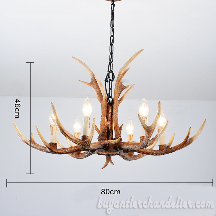 6 Cast Antler Chandelier Pendant Light Rustic Home