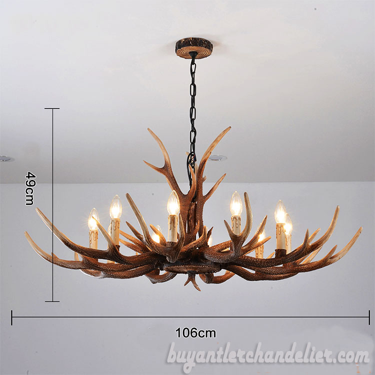 10 cast antler chandelier ten pendant light living room decor new 10 cast antler chandelier ten pendant light living room decor rustic style lighting fixtures 42 aloadofball Choice Image
