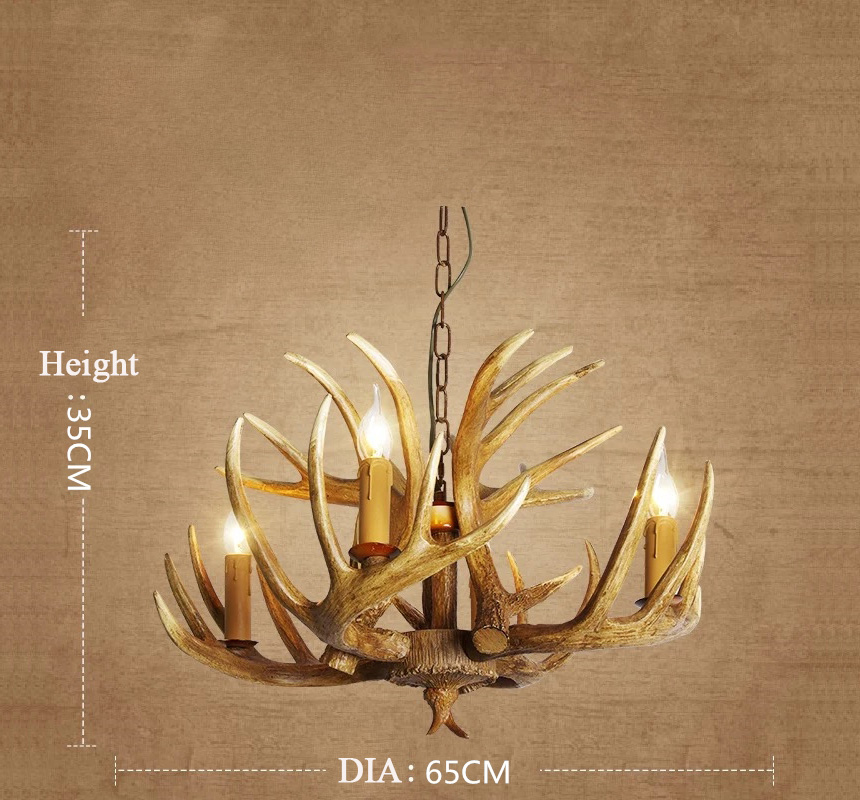 Antique Deer Antler Chandeliers For Kitchen