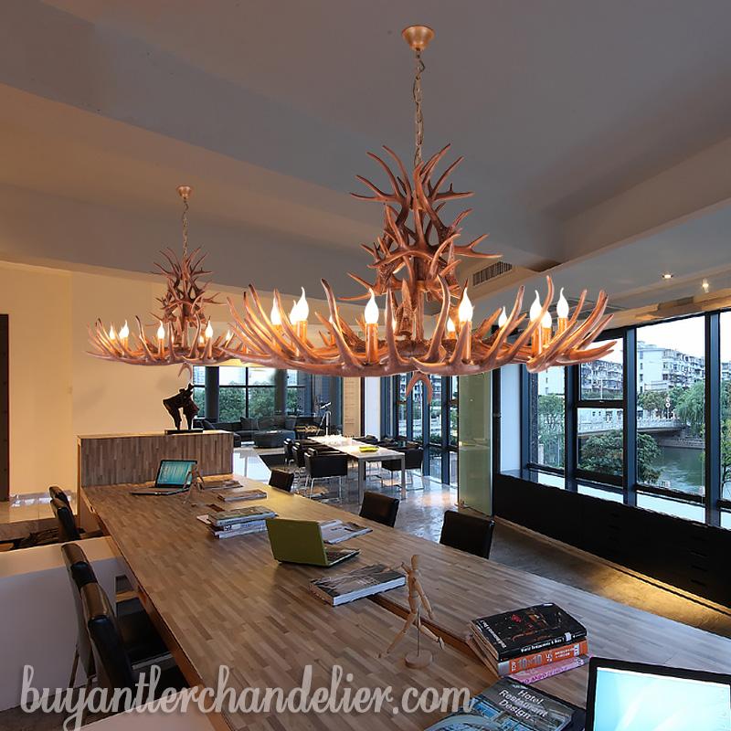 Log Home Lighting: Antler Chandeliers Rustic Pendant Lights For Farmhouse